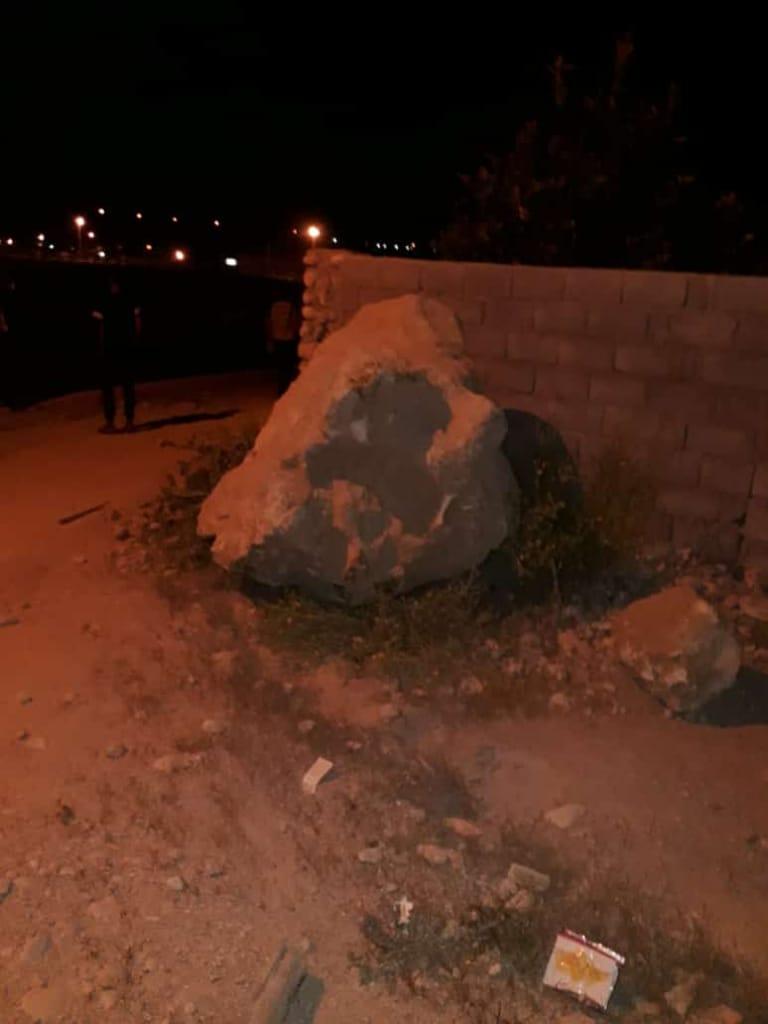 زلزله ۵.۴ ریشتری و ریزش کوه در رویدر هرمزگان